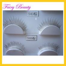 brown light color type full handtied good quality eyelash fiber false EYELASH pack