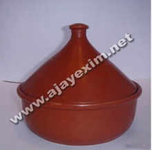 Terracotta Serving Dish For Soups And Salads With Lid