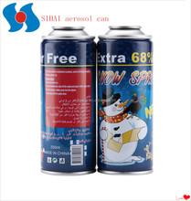 High quality four color printing aerosol tin can for snow spray
