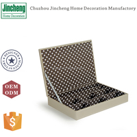 Faux leather decorated gift boxes with lids and dividers