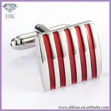 Luxury mens jewelry crystal cufflinks sets // Red and Sliver Zebra Stripes brass Tie Clip button cufflink sets wholesale