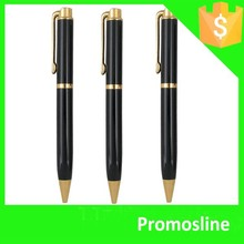 Hot Selling Popular aluminium barrel push action ball pen