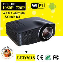 high lumens pocket projector support mini 1080p led projector for home theater system data show android mini projector