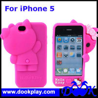 Soft Silicon Case For iPhone 5 iPhone5 3D Hello Kitty cover