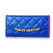 Fashion style factory price for lady clutch fashion leather wallet