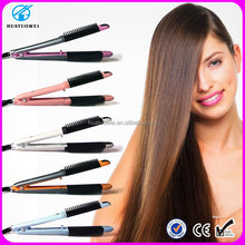 2015 Newest design hair flat iron, professional hair straightener and hair curler 2 in 1