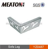 Hot sale modern angled iron furniture leg for sofa