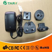 interchangeable jack power supply 12V 1.5A/interchangeable jack power supply/nterchangeable jack power adapter