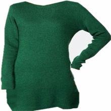 De la mujer de la fuente de un vestido de suéter largo, la computadora la llanura de punto jersey vestido de