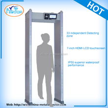 Large Touch LCD screen intelligent 33 Zone digital metal detectors walk through gate
