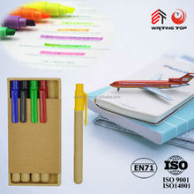 2014 set of plastic colored box with ball pen