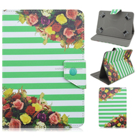 Unique Florals Flip Stand PU Leather Cover Case For Universal 7/10inch Tablet PC