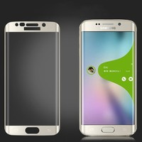 High Quality 3D Curved Full Cover Tpu Screen Protector Tempered Glass for Samsung Galaxy S6 Edge with Good Price