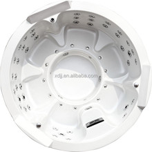 Circle shape whirlpool acrylic bathtub
