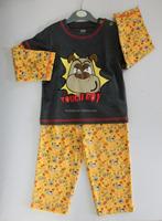 100% cotton long sleeve baby boys pajamas, baby nightsuit, boy sleepsuit