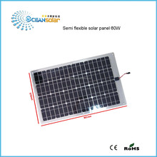 60W High Quality Solar Panel High Quality Semi Flexible Solar Panel low prices for solar panels