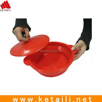 Wholesale unbreakable microwavable safe foldable silicone bowl