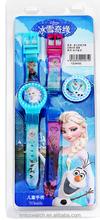 Promotion cheap children frozen digital watch with interchangable strap