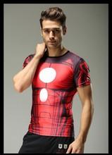 men's fashion simple cotton superman short sleeve t-shirt