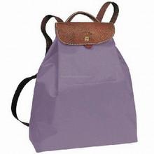 Purple Kingstar custom nylon/polyester foldable promotional mini backpack