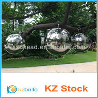 """12"""" Metal Chrome coated Stainless Steel Hollow Ball"""