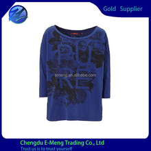 New Design Pure Cotton Long Sleeve T shirt Custom For Woman