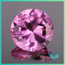 Free Sample Factory price 4.0mm Faceted Round Rose Cut Synthetic Sapphire Price Per Carat Wholesale