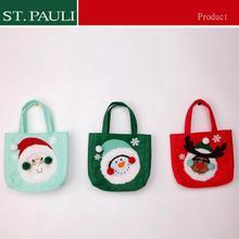 Eco -friendly customize size knitted fabric popular christmas handbags Xmas decoration