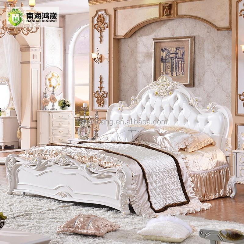 Estilo europeo clásico juego de muebles cama king size diseños-Camas ...