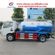 DFAC 4cbm sewage mini vacuum suction truck golden suppiler in China