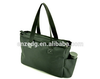 polyester tote bag with side bottle pocket