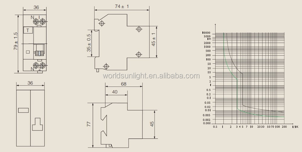 Single Phase Earth Leakage Circuit Breaker Diagram: Iec1009 Xdz30l 1p+n 30ma 16a Single Phase Earth Leakage Circuit rh:alibaba.com,Design