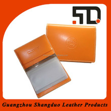 Excellect Quality Leather Cover Plastic Business Card Holder