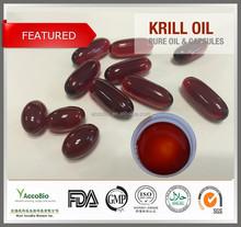 GMP factory Wholesale Omega 3 Krill oil, Antarctic Krill oil softgel in bulk