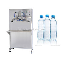 Semiautomatic double heads pure water/mineral water bottling liquid filling machine