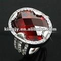 precio directo de fábrica de piedras preciosas ruby anillos cz anillos