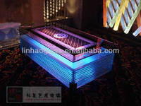 led table with wheel, bar table with wheels, ktv table with wheel