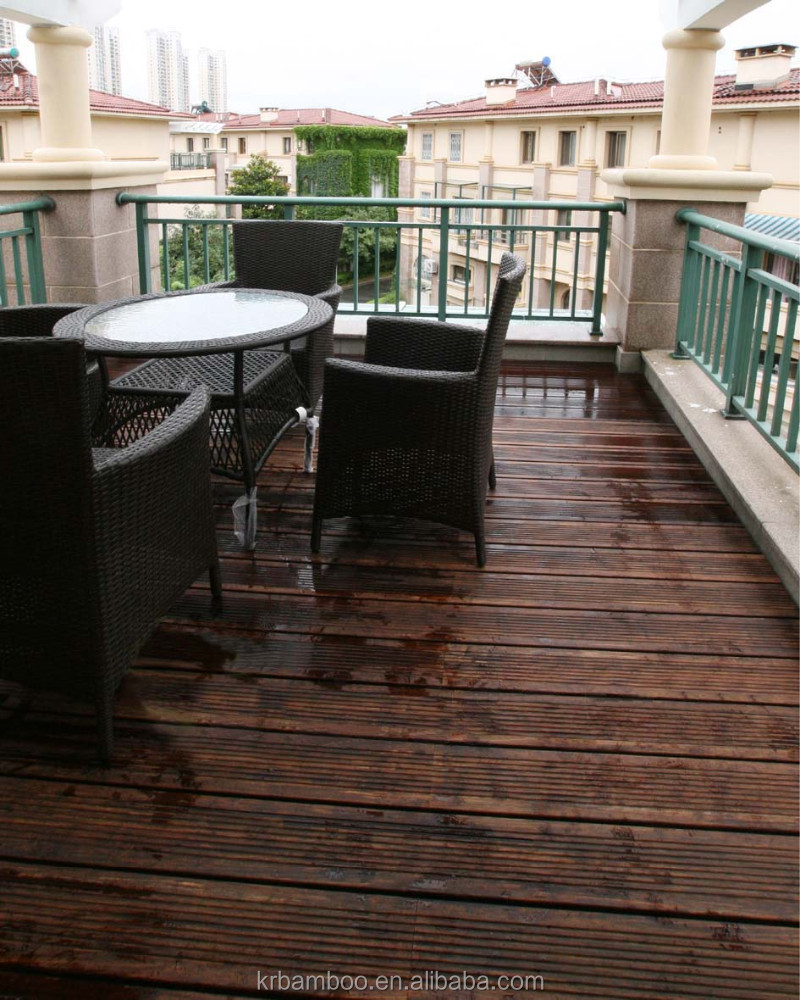 Water resistant moisture proof bamboo decking flooring for Bamboo flooring outdoor decking