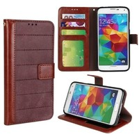 Retro Style Frosted Contrast Color Wallet Leather Case for Samsung Galaxy S5 Case