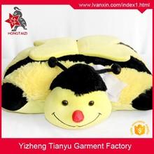 2015 hot sale stuffed pillow cute yellow color children plush pillow