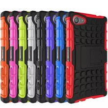 Manfacturer Wholeselling Heavy Duty Hybrid Case Impact Rugged Silicone PC Armor Cover Case For Sony Z5 mini