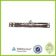 most popular engraved logo Leather Wrap Around Bracelet