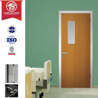 Green Choice for Envirnoment Friendly, Modern Simple Design Glaze Glass Hospital Doors or School Classroom Doors