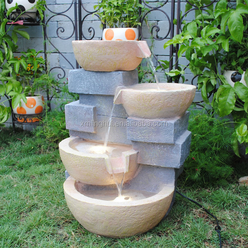 Garden pot water features images - Luces led jardin ...