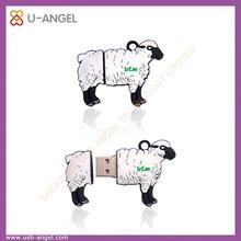 Custom cartoon sheep usb flash drive, animal shape USB flash drives, goat sheep USB stick