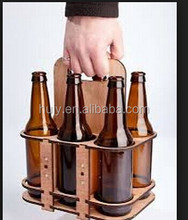 Kichen Decorative Wood Beer Growler Bottle Caddy, Carrier, Tote Crate