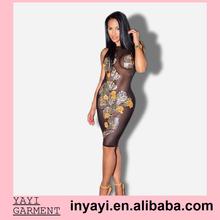 Bulk Wholesale Women Girl Lady Prom Dresses Design Flower Embroidery Bodycon Sexy Mini Dress
