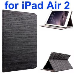 Sand Painting Texture Flip Leather Case for iPad Air 2 with Holder