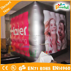 Giant inflatable helium square balloon/inflatable floating advertising balloon/inflatable floating cube