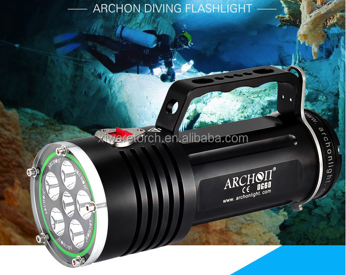 Professional Scuba diving goodman handle torch depth 200 meter diving light ARCHON WG66